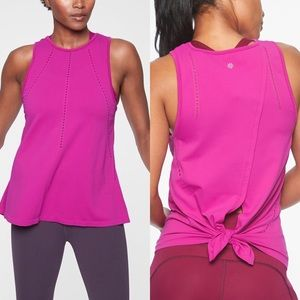 Athleta Foothill Tank Tie Back Size Large